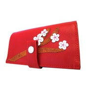 Image of Cherry Blossom ) Pocketbook Slash Checkbook Wallet