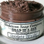 Image of Chocolate Drizzle (4 oz. jar) Soap In A Jar (Fluffy Whipp)