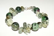 Image of Agate chips and Semi precious stone bracelet