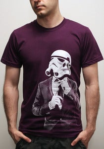 Image of Smarttrooper - Mens t shirt / Unisex t shirt ( Star Wars / Storm trooper t shirt ) on Eggplant