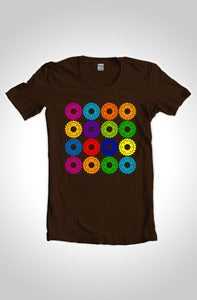 Image of The Cogs Cycling T-Shirt Dark Chocolate