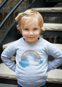 Image of Rhinestone Rainbow Sweatshirt