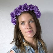 Image of Whole Lotta Rosie Headband - Bright Purple