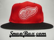 Image of Vintage Deadstock Red Wings Logo 7 Twill Snapback Hat Cap