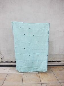 "Image of Linen Throw ""Hannah Blue Small"""