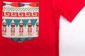 Image of NATIVE SILK POCKET Tee Red