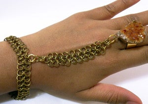 Image of Citrine Goddess Hand Harness