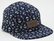 Image of NEW! OBEY Leather Box Nautical Blue Camp Hat Collection