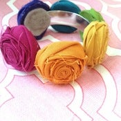 Image of NEW!! rich rainbow multicolor rosette bracelet