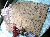 Image of Hand printed Tags...