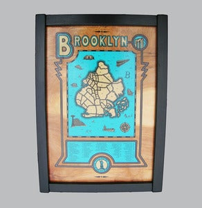 Image of brooklyn map - framed