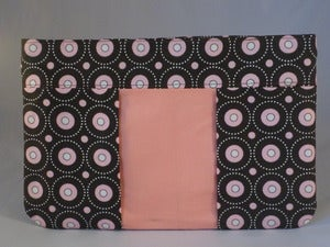 Image of Chocolate Brown and Pink Clutch/Pouch