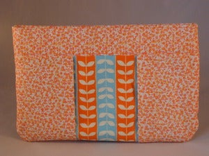 Image of Orange and Blue Clutch/Pouch