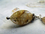 Image of Cupid's Dart Drop Necklace | Golden Rutilated Quartz, Sterling Silver