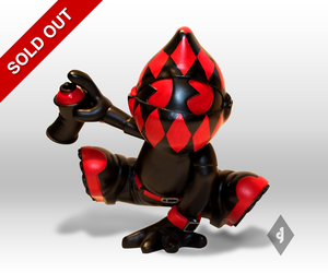 Image of 8&quot; Black and Red Free Runner Kid
