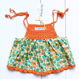 Image of Top Crochet Orange
