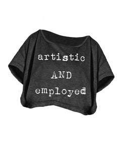 Image of Artistic and Employed Crop Top