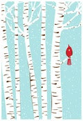 Image of Winter Cardinal Art Print