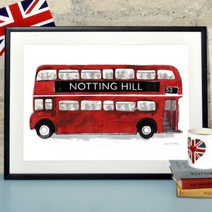 Image of London Bus Print