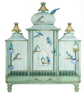 Image of Bird Cage Fire Screen