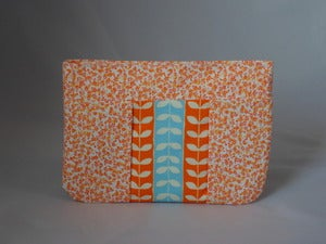 Image of Orange and Blue Zipper Pouch