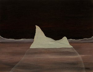 "Image of ""Solitude"" Original Iceberg Painting by Artist Omar Zingaro Bhatia"