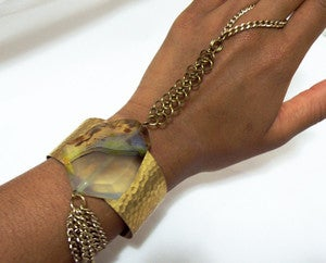 Image of Agate and Brass Hand Harness