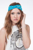 Image of July Blue Gold Studded Turban