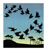 Image of Nineteen Rooks - Limited Edition Screenprint