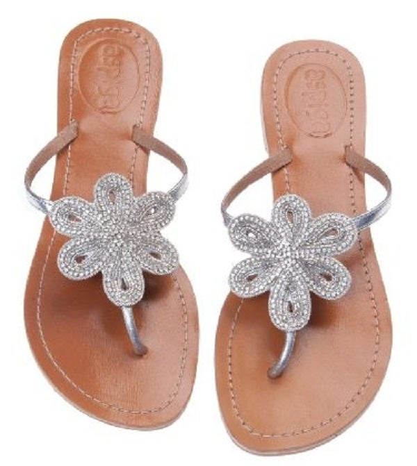 Image of Aspiga Leather &quot;Bari&quot; Sandal - Silver