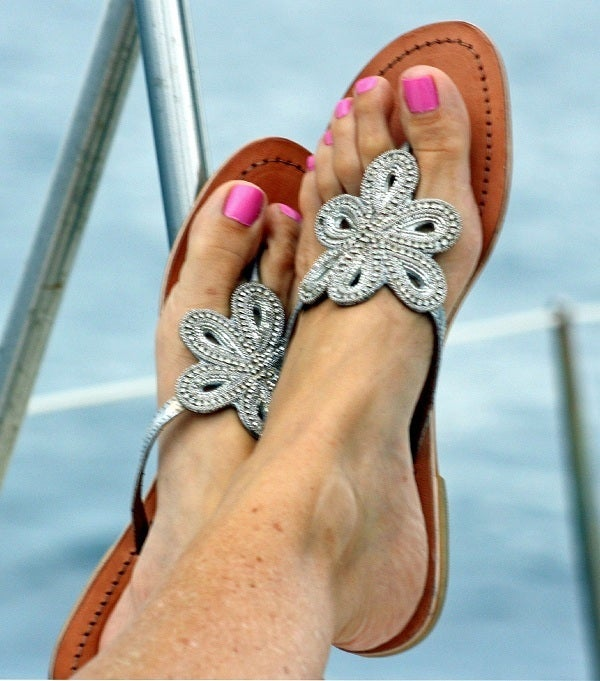 "Image of Aspiga Leather ""Bari"" Sandal - Silver"
