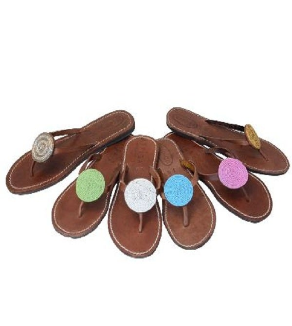 "Image of Aspiga Leather ""Disc"" Sandals"