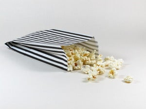 Image of Black Vertical Striped Paper Bags