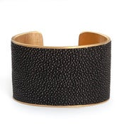 Image of Manchette Caviar or large / Caviar gold cuff large
