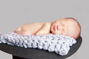 Image of Mini Chunky Blanket in Pewter (can customize)
