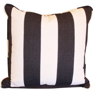 Image of Black and White Thick Stripe Pillow