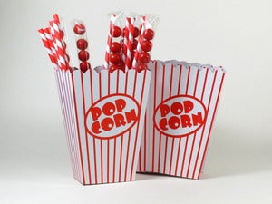 Image of Popcorn, Straw & Treatie Tube Set