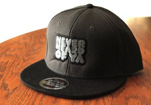 Image of Never Heard Of Ya Snapback - Charcoal w/ Black Brim