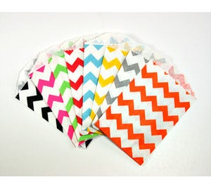 "Image of Tiny Treat/Goody Bags - Chevron (2.75x4"")"