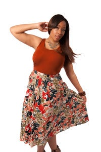 Image of Floral Button Down Skirt