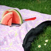 Image of Convertible Picnic Blanket/Tote: Ramona Furoshiki with Lining, Pocket and Napkins