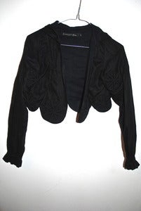 Image of Romance Was Born barnacle black bomber hoodie jacket size 8