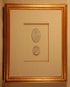 "Image of Framed intaglios - ""Maddy"" Design"