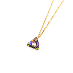 Image of Cosmic. Mini Crystal Triangle Necklace