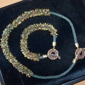 Image of Kumihimo Long Magatama Necklace and Bracelet Kit