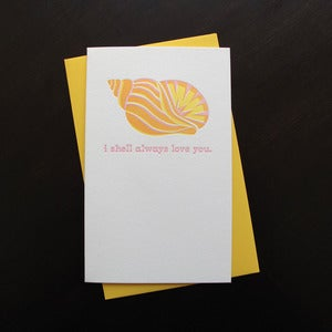 Image of 1413 - shell love letterpress card