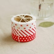 Image of fabric tape value pack - red ribbon