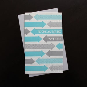 Image of 1109B - fab thanks letterpress thank you card - set of 6