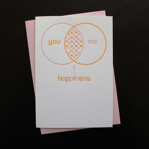 Image of 1401 - venn valentine letterpress card