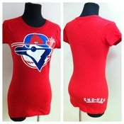 "Image of ladies ""FITTED"" jays t-shirt"